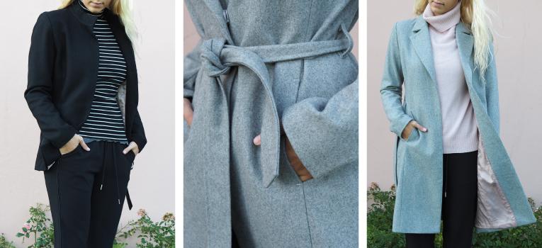 frakke med bindebånd
