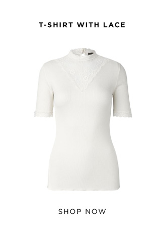 Rosemunde t-shirt with lace