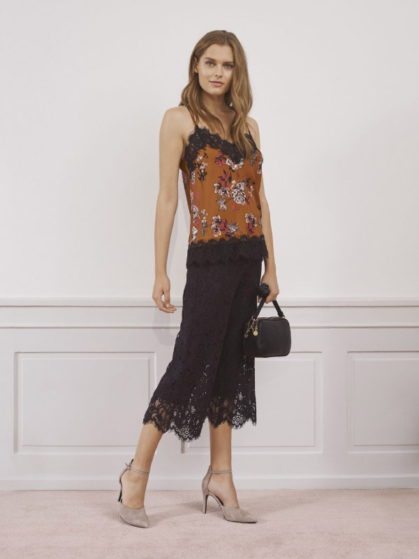 Looking absolutely amazing in full lace culotte trousers and top