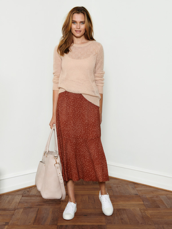 New mohair knit styled with cool skirt for a luxury feeling - every day