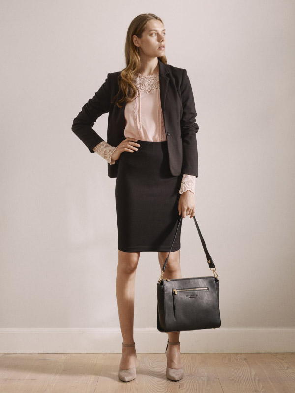 Stay stylish at the office with our soft skirts and blazers