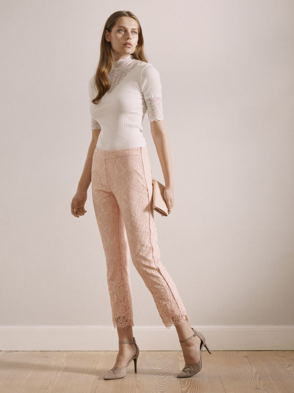 An effortless take on summer with our elegant full lace trousers