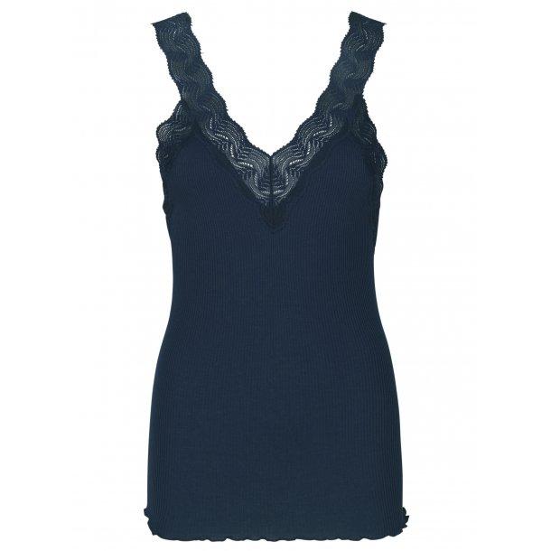 3ab3bc34e14696 Rosemunde silk top with lace straps - WOMEN - Rosemunde ApS