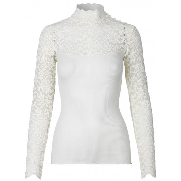 069777f4d931 Rosemunde Turtleneck Blouse With Vintage Lace - BLOUSES - Rosemunde ApS