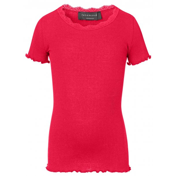 49fceb290e17ee Rosemunde Silk T-Shirt With Lace For Girls - GIRLS T-SHIRTS ...