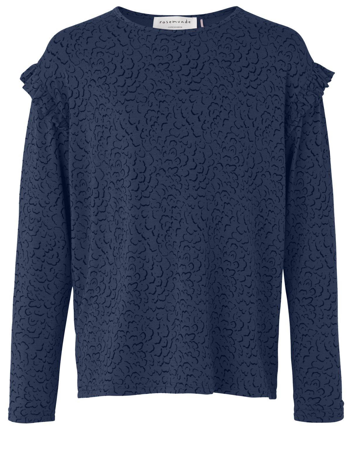 Bluse til piger, blue whirlwind print - Piger - Rosemunde