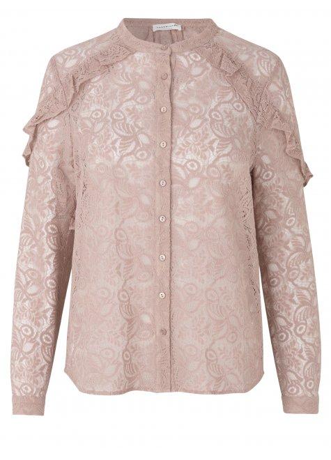 Rosemunde Blondeskjorte, vintage powder