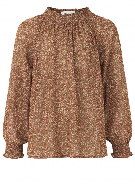 Blouse for girls in recycled polyester, Rose Petit Flower Print