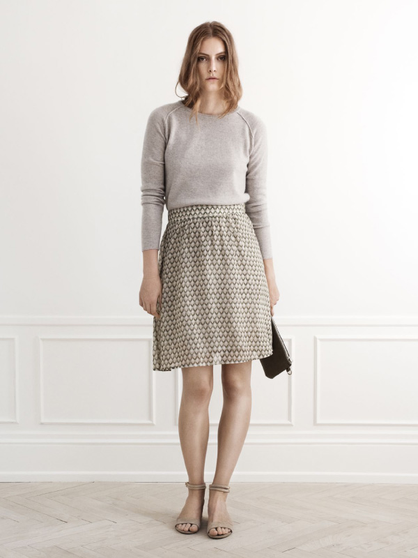 Our favourite cashmere matched with a feminine skirt