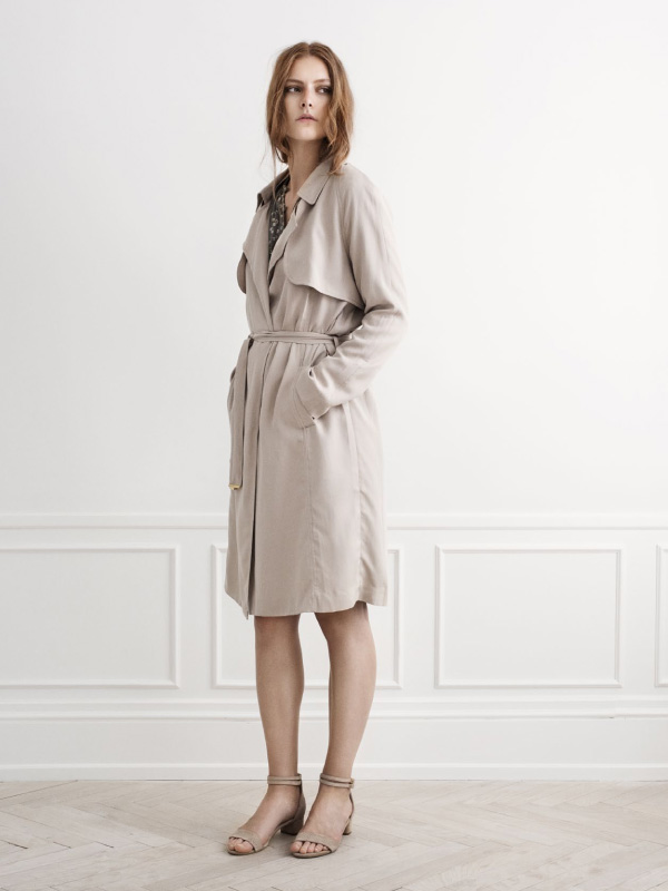 New trench coat adding the final touch