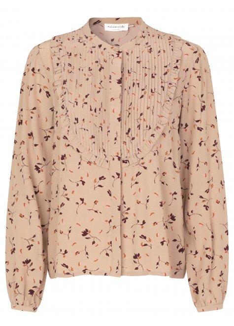 Ecovero skjorte, clay day flower print