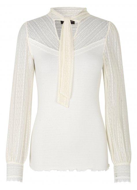 Silke bluse, Ivory
