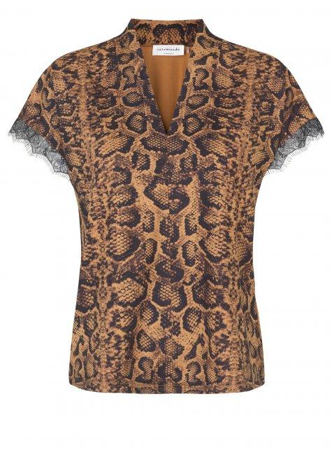 T-shirt, Almond Snake Print